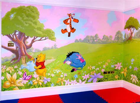 winnie  pooh mural sacredart murals