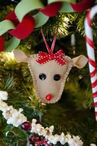 Homemade Felt Christmas Ornament Reindeer