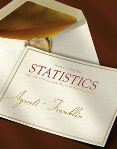 Solution Manual For Statistics The Art And Science Of