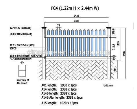 standard fence height pvc portable picket fence