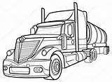Truck Sketch Trailer Outline Pickup Drawing Vector Trucks Drawings Illustration Draw Getdrawings sketch template