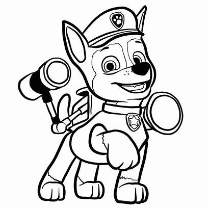Paw Patrol Chase Draw Drawing Coloring Psi