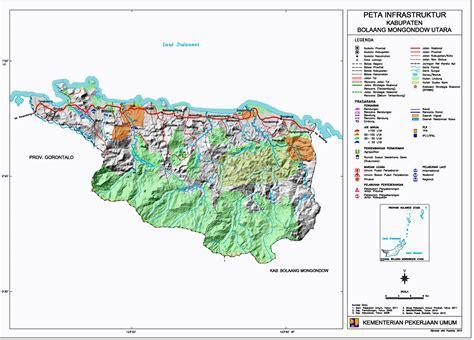 peta kota peta kabupaten bolaang mongondow utara