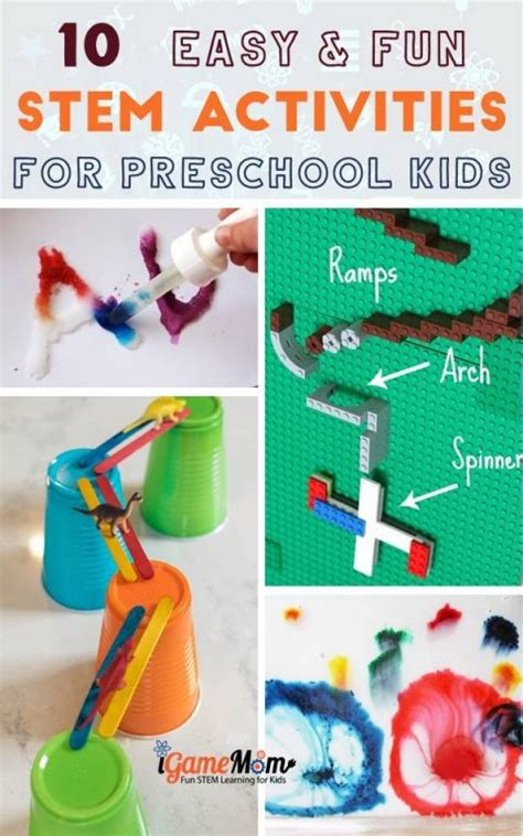 stem activities  preschoolers  toddlers