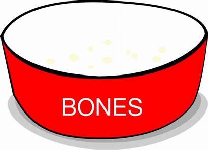 Bowl Dog Clipart Clip Vector Bowls Bone