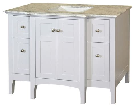houzz bathroom vanities white 44 inch single sink vanity wood white cabinet only