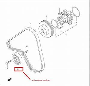 Service Manual  2006 Suzuki Verona Door Serpentine Belt