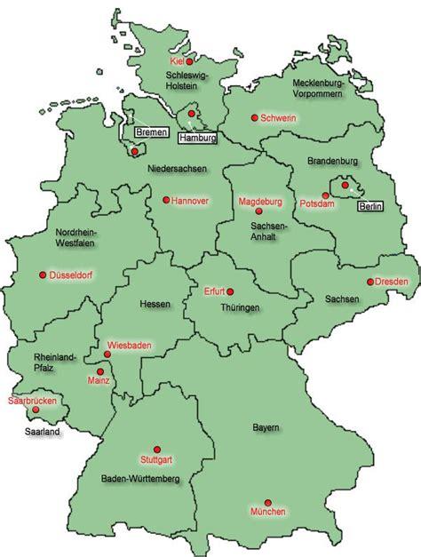 Bundesländer In Deutschland Karte