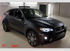BMW X6 Matte Black Vinyl Car Wrap Sydney