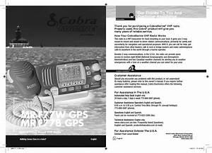 Cobra Electronics Mrf77 Vhf Marine Radio User Manual