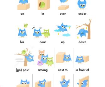 prepositions  place time  movement exercises