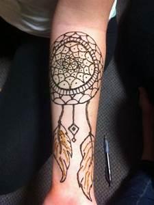 Dream catcher henna tattoo that Leslie drew on me! | INK ...