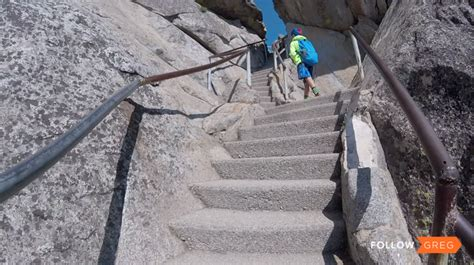 Climbing Moro Rock Trail Sequoia National Park What
