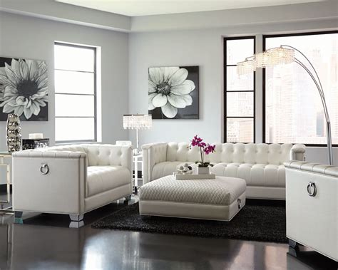 Living Room Set Up For by Chaviano Pearl White Living Room Set 1stopbedrooms