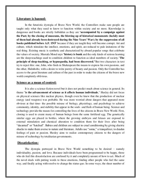 Creative Essay On Brave New World by Brave New World Essay Questions On Religion