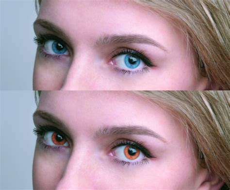 eye color change how to change the colour of in a portrait image in