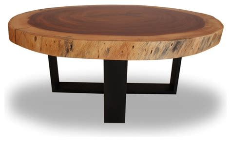 solid wood round coffee table round solid wood table blackened metal base