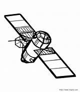 Coloring Satellite sketch template