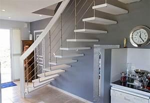 Escalier En U : syst me de l 39 escalier suspendu invent par treppenmeister ~ Farleysfitness.com Idées de Décoration