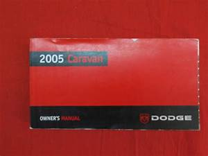 2005 Dodge Caravan Owners Manual Guide Book