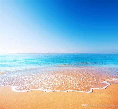 blue sky seawater beach photography backdrops