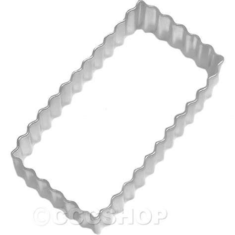 Kitchen Craft Cutter by Kitchen Craft Serrated Rectangle Cookie Cutter