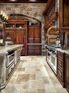 old world tuscan themed kitchen style with arched brick With kitchen cabinets lowes with arched wall art