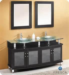 fresca contento 60 inch double sink vanity in espresso