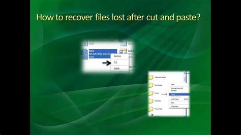 How To Recover Files Lost After Cut And Paste Youtube