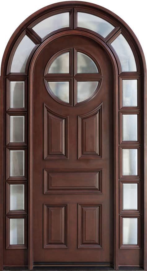 wood entry door front door custom single with 2 sidelites solid wood