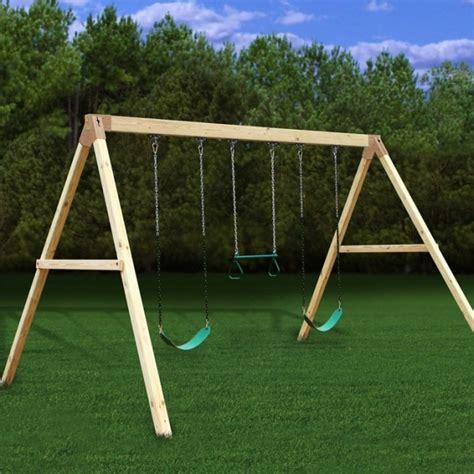 wood idea diy wooden swing set plans   plans