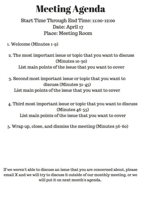 meeting agenda meeting agenda meeting agenda template