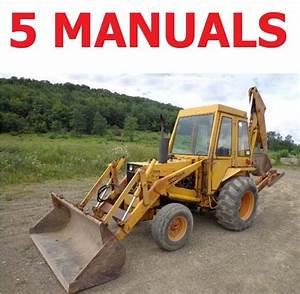 5 Service Manuals Case 580b 580ck B Tractors Tlb Operator