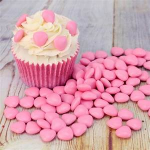 100g Bag Of Pink Sugar Coated Chocolate Hearts