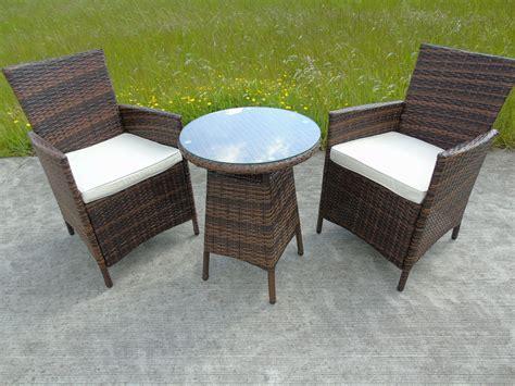 Garden Chair Set by Bistro Garden Rattan Wicker Outdoor Dining Furniture Set