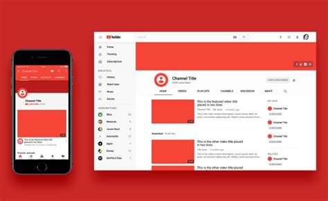 youtube mockup psd templates ginva