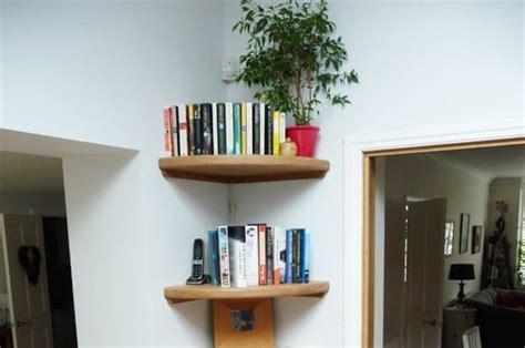 Oak Corner Shelves