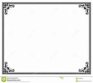 Certificate Border Vector   IT Resume Cover Letter Sample