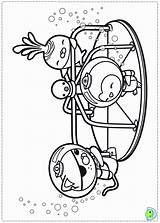 Coloring Octonauts Pages Printable Dinokids Colouring Twig Popular Coloringhome Close sketch template