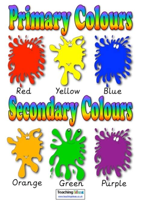 teaching colors primary and secondary colours teaching ideas