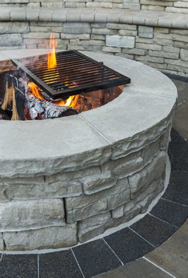 closeup   rivercrest fire pit kit