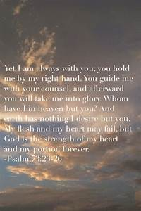 Yet I Am Always With You  You Hold Me By My Right Hand