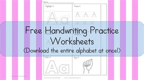 printable handwriting worksheets  kids  karles