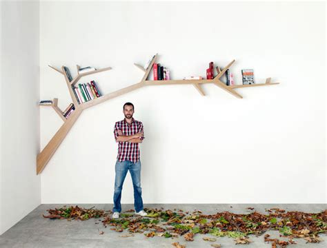 Tree Bookcase Plans by Tree Branch Bookshelf