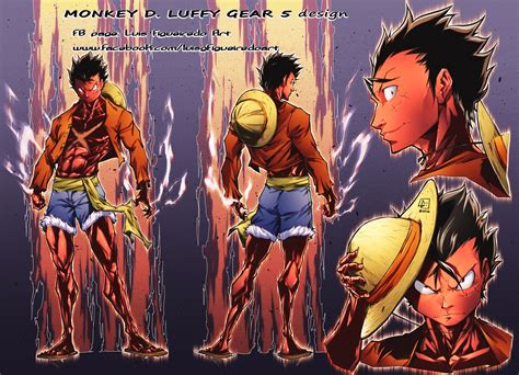 luffy gear  colored onepiece