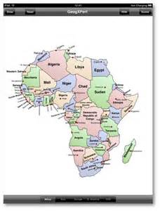 Africa Map Quiz Fill in the Blank