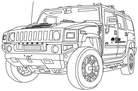 Hummer Coloring Pages Coloring Pages