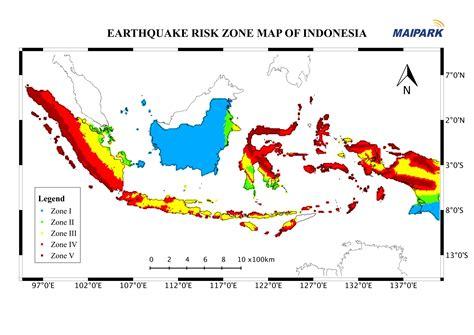 indonesia earthquake map map  indonesia earthquake