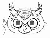 Owl Printable Template Mask Coloring sketch template