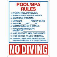 pool rules sign Poolmaster Residential or Commercial Swimming Pool and Spa ...